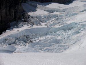 Serac & crevasse littered Ingraham Glacier
