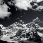 Himalayas-Nepal-BW everest