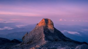 Golden and pink of Mount Kinabalu