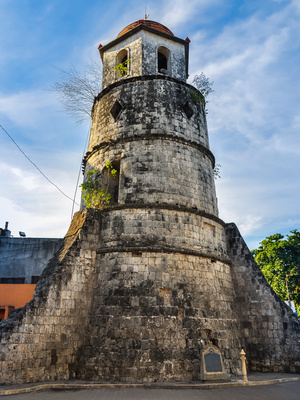 Historical Bell Tower built of coral stones - Dumaguete City, Negros Oriental, Philippines
