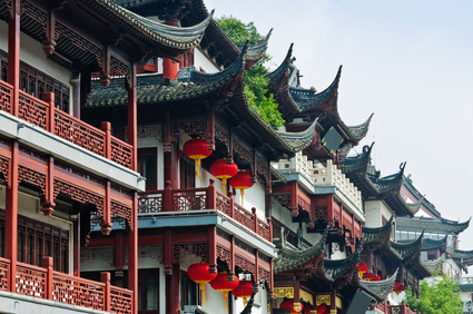 Chinese traditional buildings in Shanghai
