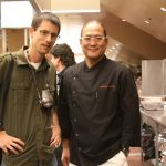 "Dave with the ""Iron Chef"""