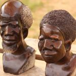 Traditional Swazi roadside stone sculptures