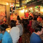 The crowds at Lek and Rut Seafood in Bangkok