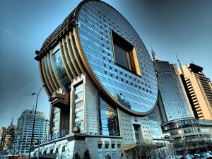 "The visually unique ""tire"" building in Shenyang"