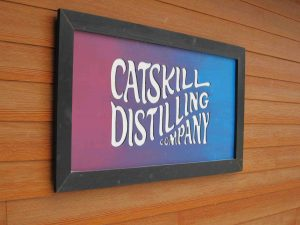 Catskill Distillery sign