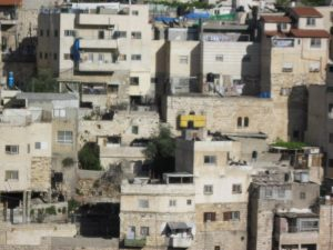 Closeup of Jerusalem neighborhood