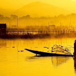 """Yellow Dawn"" by A. P. Soe, Lake Inle, Myanmar"