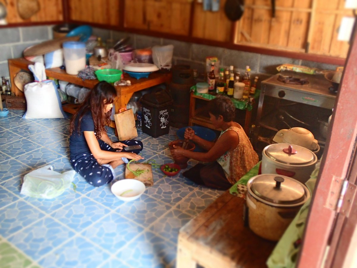 A lifetime of local knowledge thai village life for Our life in the kitchen