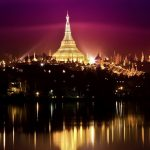 """Shwedagon Pagoda at Night"", by Pye Aye Nyein"