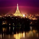 """Shwedagon Pagoda at Night"", by Pye Aye Nyein"