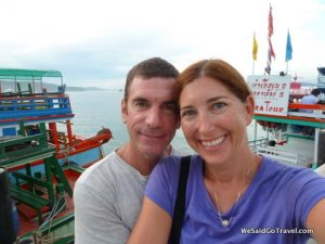 Lisa and George leaving Koh Samet