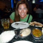Lisa's first dinner in India
