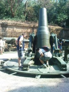 Vintage weapon at Corregidor