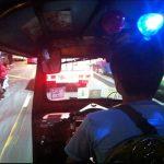View from backseat of a Tuk Tuk in Bangkok