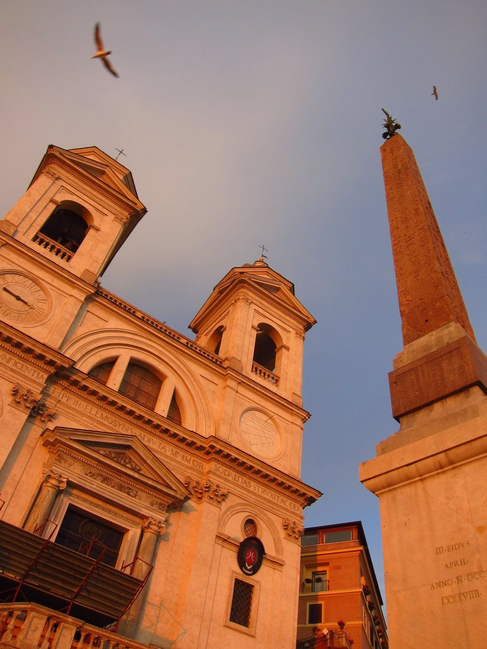 Sunset at the Top of the Spanish Steps