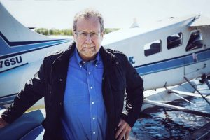 Peter Greenberg at Lake HoodSeaplane Base, Anchorage - Photo credit: Courtney Crockett