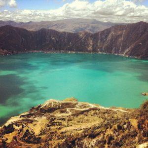 The impressive Quilotoa Lagoon