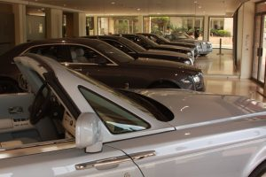 """Super Cars"" in a dealership in Monte Carlo"