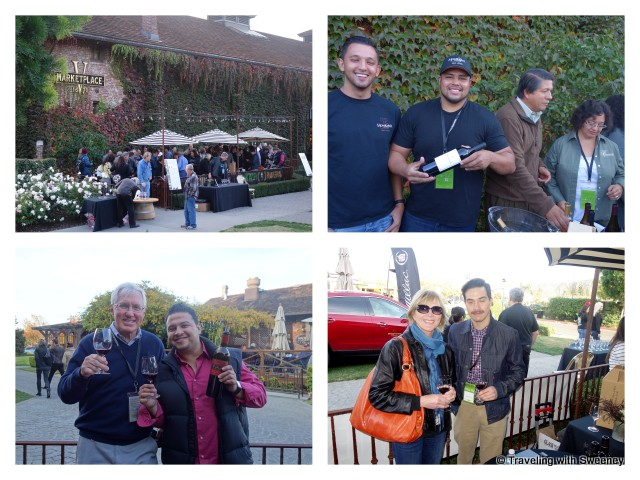 Yountville vine pavilion – Clockwise from top right: Puentes Family, Ignacio Delgadillo, Mr. TWS with Jaime Orozco of Mi Sueno Winery