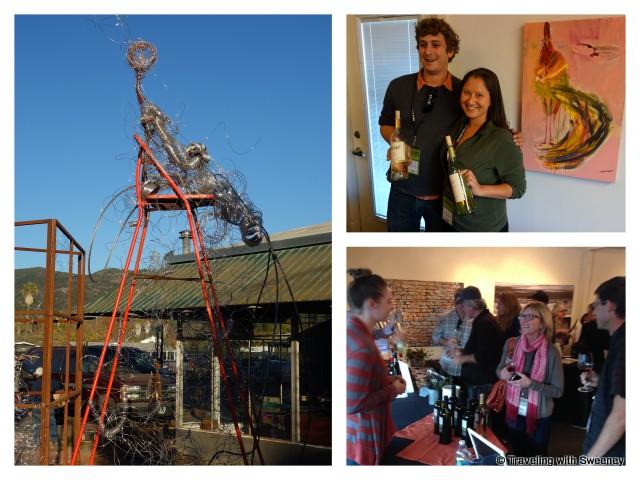 Calistoga wine pavilion – Top right: Joel Creager and Tara Katrina Hole, Bottom right: Amber Lanier and Dave Thompson