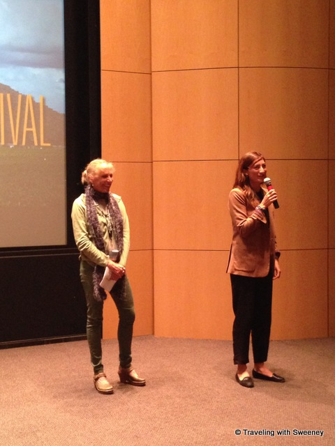 Filmmaker Jessica Sanders (right) taking audience questions