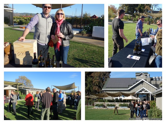 St. Helena wine pavilion, Top left: Dan O'Brien of Long Meadow Ranch Winery
