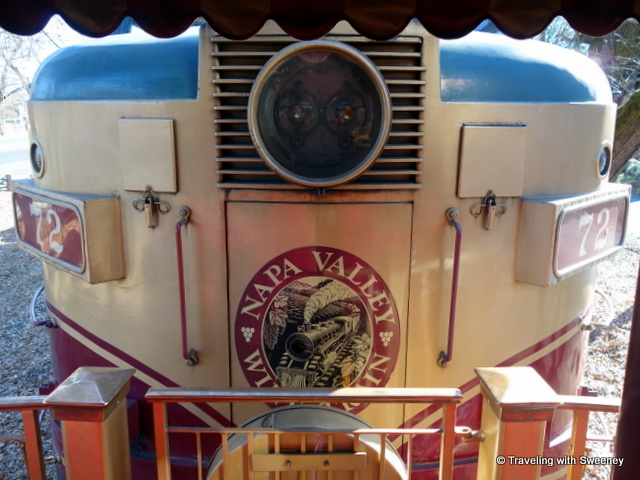 """Napa Valle Wine Train Engine as seen from the train's platform"""
