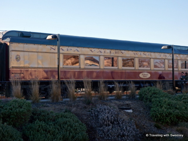 """Napa Valley Wine Train at the Napa McKinstry Street Station"""