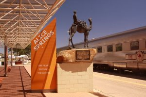 Ghan Statue, Alice Springs Train Depot