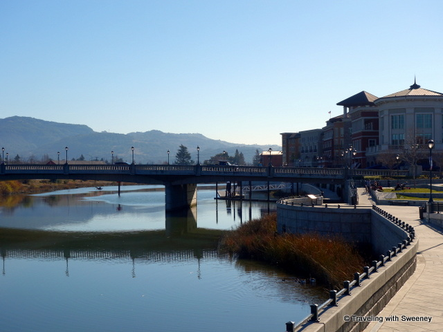 """Napa River and buildings along the River-walk"""