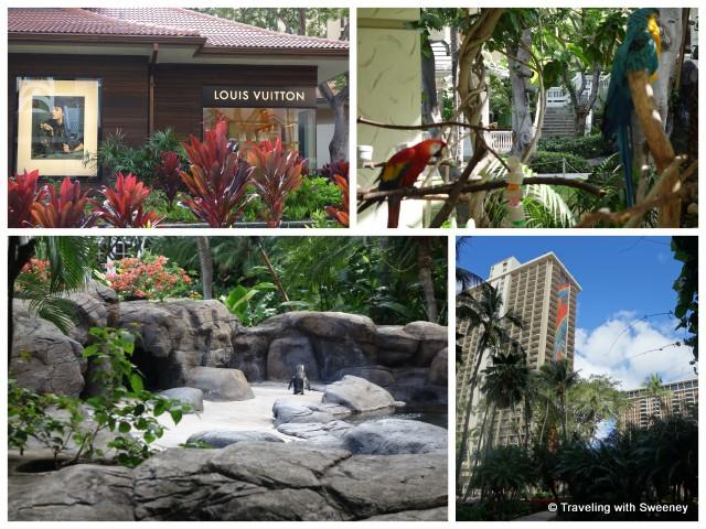 """Flora, Fauna and Louis Vuitton shop at Hilton Hawaiian Village, Honolulu"""