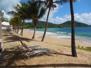 Surf beach at Curtain Bluff, Antigua