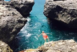 Paul Kandarian in lagoon