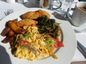 Salt fish, ackee,