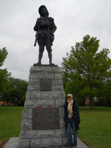 Statue dedicated to Australian Imperial Forces near Bullecoourt
