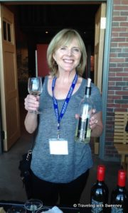 """Happy with a glass of Gaspereau Tidal Bay at a reception in Halifax"""