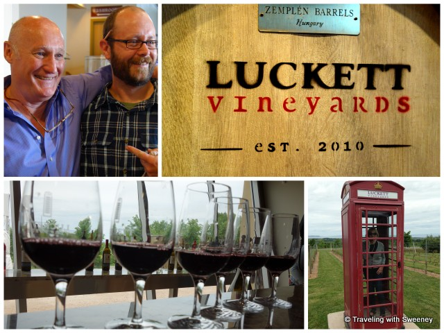 """""""Top left: Pete Luckett and winemaker Mike Mainguy at Luckett Vineyards"""""""