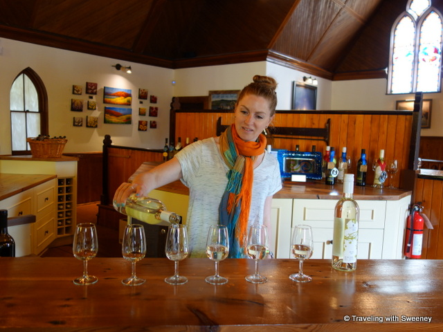 """Nova Scotia white wines at Avondale Sky Winery"""