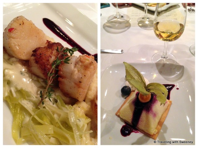 Lobster Stuffed Digby Scallops and Blueberry Lime Cheesecake