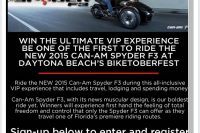Enter to win VIP Experience with new Can-Am Spyder F3