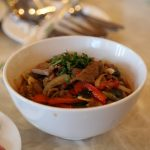 Laghman - a popular noodle dish in parts of China and Central Asia