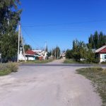 Street in Karakol near guesthouse