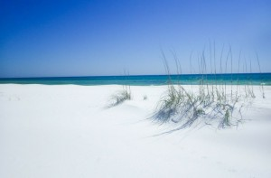 Exploring the white sand beaches of Shell Island