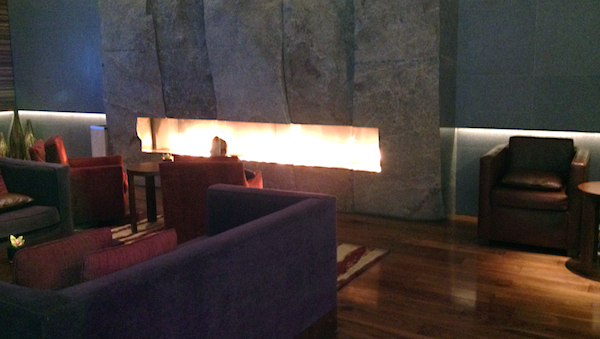 Warm your tootsies at the ARIA spa's Fire Lounge
