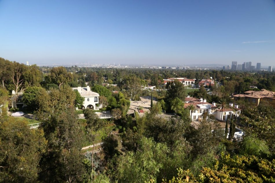 Overlooking the Los Angeles Basin from the Pritzker Estate