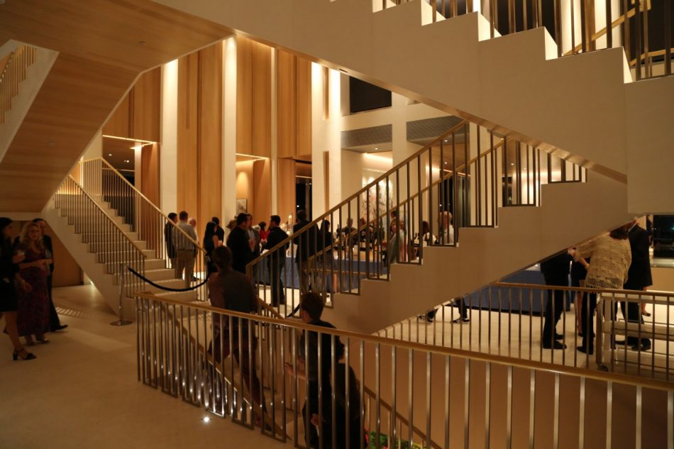 Grand staircase inside the Pritzker Estate