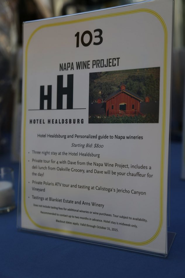 The Napa Wine Project auction item