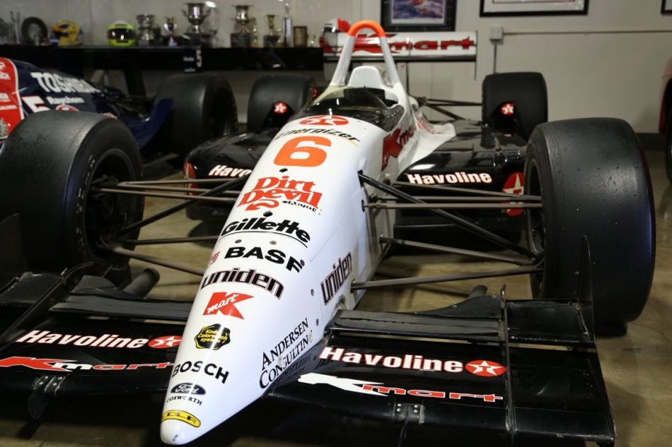 Race car driven by Ayrton Senna