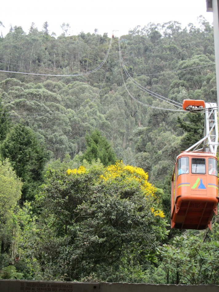 Head up to the top of Monserrate in a Swiss-made cable-car